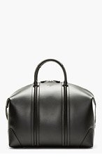 GIVENCHY Black Leather LC Duffle Bag for men