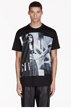 GIVENCHY Black Oversized Gypsy Print T-Shirt for men