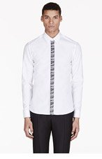 KENZO White Marled Button-Fly Shirt for men