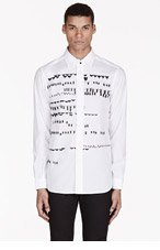 DIESEL BLACK GOLD Whit insect-embroidered SEMPLY SHIRT for men