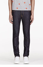 NUDIE JEANS Blue Raw Organic Tape Ted jeans for men