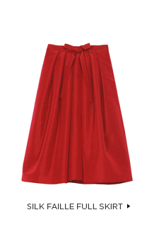Silk Faille Full Skirt