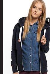 orange label zip hoodie