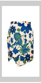 Embellished X-Ray Flower Skirt