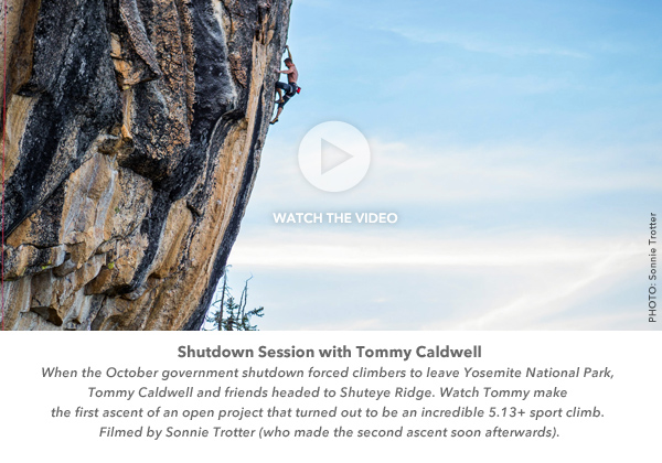 Tommy Caldwell, Shuteye Ridge, California: Watch the video