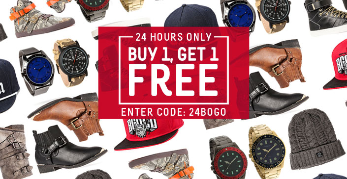 Gifts On Us: Footwear, Watches, Hats