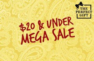 Mega Sale: $20 and Under