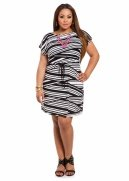 Web Exclusive: Variegated Striped Dress