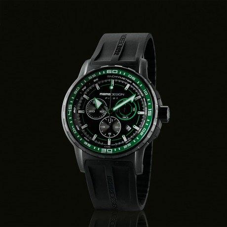 Pilot Pro Chrono in Black // Green Accent