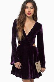 Lucky Chances Velour Dress