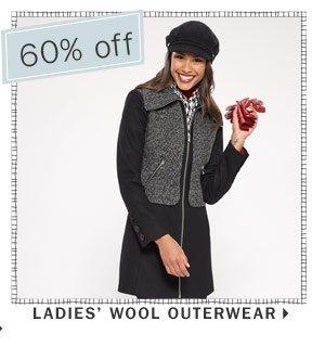 60% off Ladies' wool outerwear