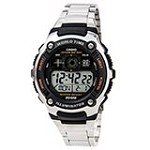 Casio AE2000WD-1A Men's Silver-Tone Multi-Functional Digital World Time Illuminator Sports Watch