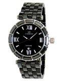 Oniss ON834-L BLK Women's Swiss Made Black Ceramic Watch