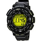 Casio PAG240-1B Men's Pathfinder Triple Sensor Sunrise & Sunset Data Digital Compass Watch