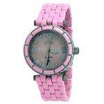 Oniss ON834-L Pink Women's Milan Pink MOP Dial Pink Ceramic Bracelet Watch