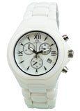 Oniss ON811-MWH Men's White Ceramic Swiss Quartz Chronograph Watch