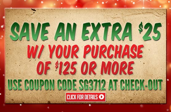 Sportsman's Guide's $25 Off with Your Merchandise Order of $125 or more! Enter Coupon Code SG3712 at checkout. Offer Expires Tonight, 12/22/2013.