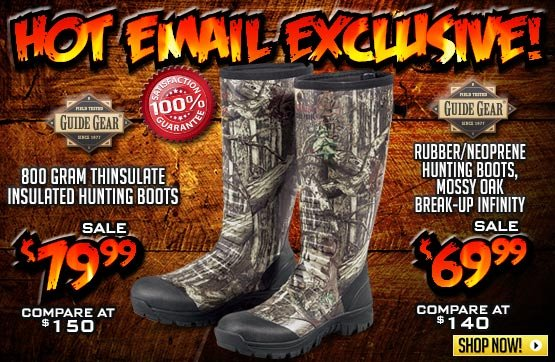 Men's Guide Gear® Waterproof Rubber / Neoprene Universal Hunting Boots