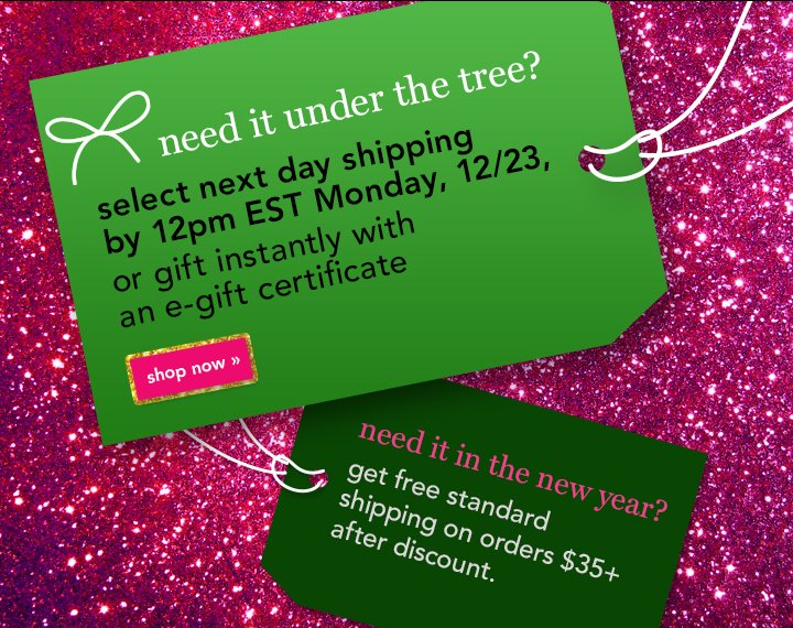 Need It Unders The Tree? Shop Now!