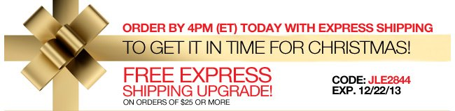 Order By 4PM (ET) Today with Express Shipping to Get it in Time for Christmas! Free Express Shipping Upgrade on orders of $25 or more