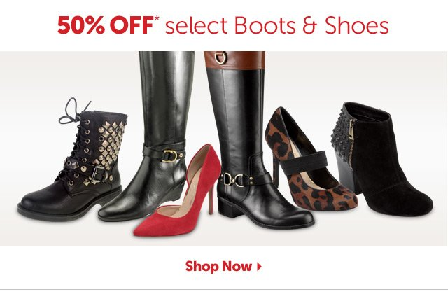 40% OFF* select Boots & Shoes - Shop Now