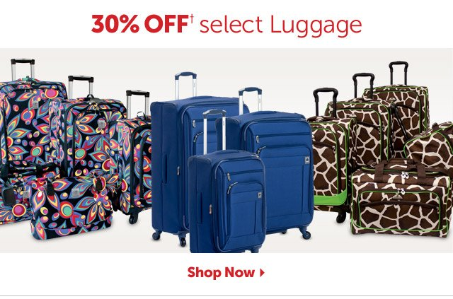 30% OFF+ select Luggage - Shop Now