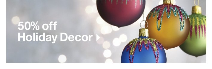 50% off Holiday Decor