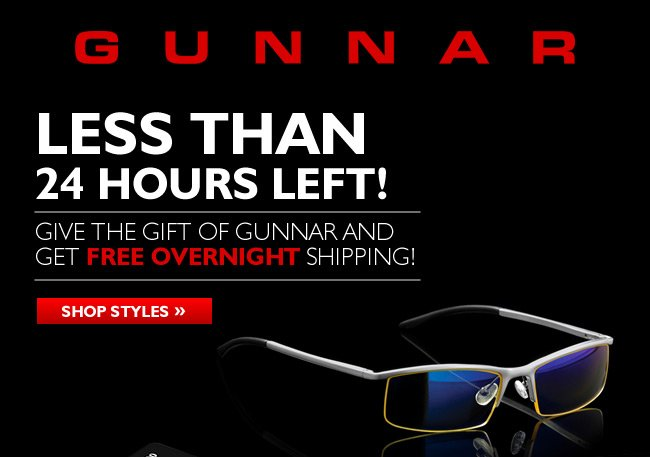 Less than 24 hours left! Order any eyewear and get free overnight shipping!