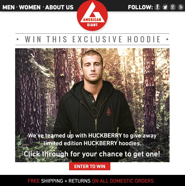 Win This Exclusive Hoodie From Huckberry!