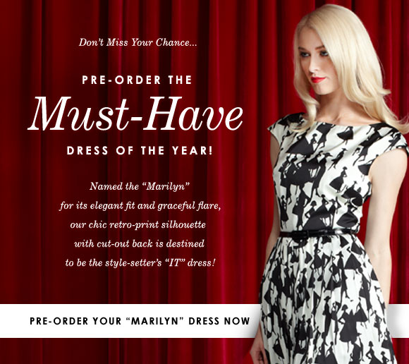 The list is growing! Pre-order your must-have dress now!