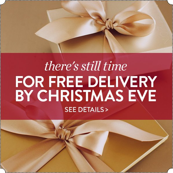 THERE'S STILL TIME FOR FREE DELIVERY BY CHRISTMAS EVE