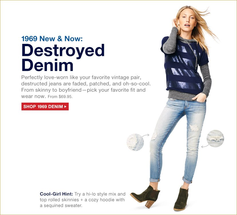 1969 New & Now: Destroyed Denim | SHOP 1969 DENIM