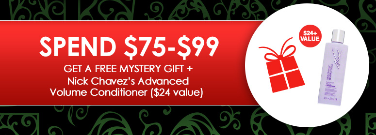 Spend $75-$99 Get a Free Mystery Gift + Nick Chavez's Advanced Volume Conditioner ($24 value)