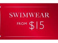 Swimwear from $15