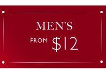 Men's from $12