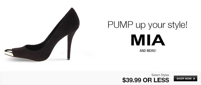 PUMP up your style!