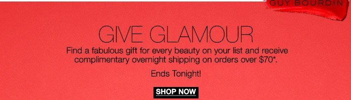 Find a fabulous gift for every beauty on your list and receive complimentary overnight shipping on orders over $70*.
