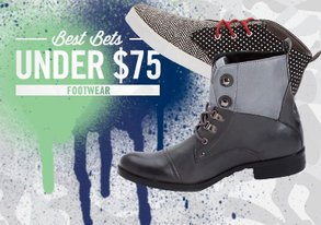 Shop Best Bets Under $75: Footwear