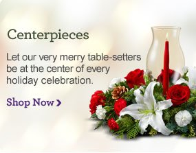 Holiday Centerpieces Let our very merry table-setters be at the center of every holiday celebration. Shop Now