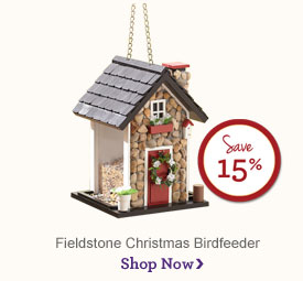 Christmas Birdhouse - Save 15% Shop Now