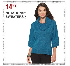 14.97 Notations® sweaters