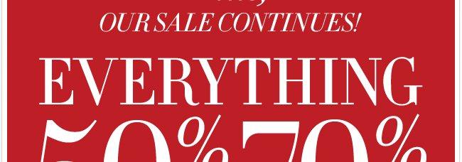 Everyhing 50%-70% off
