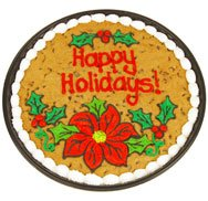 Holiday Floral Cookie Cake