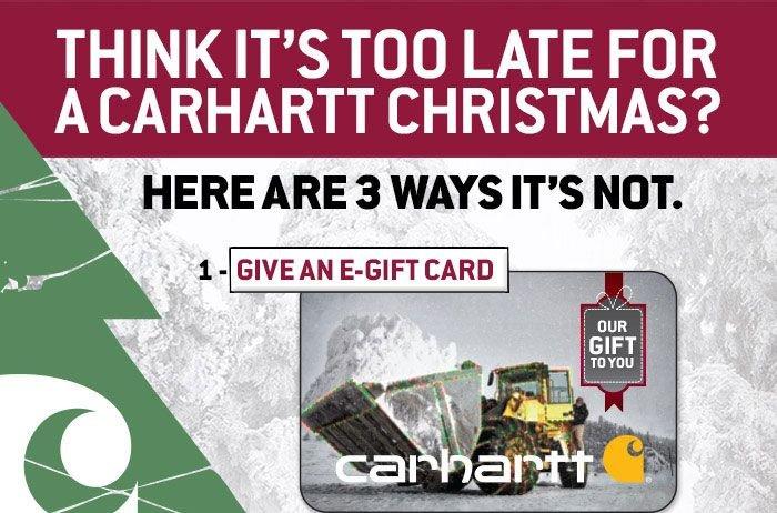 Give A Carhartt e-Gift Card