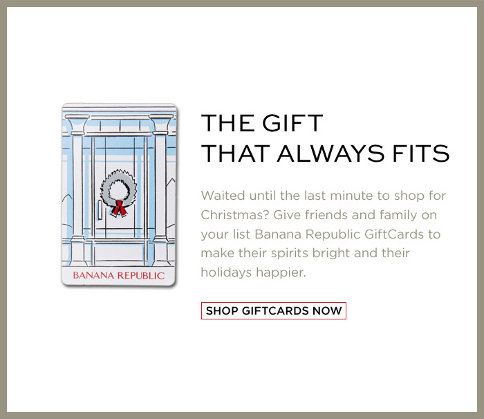 THE GIFT THAT ALWAYS FITS | SHOP GIFTCARDS NOW