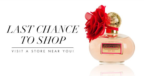 Last Chance To Shop In Stores!