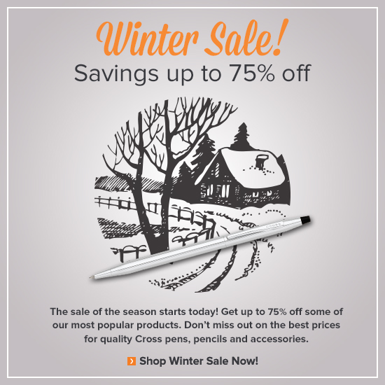 Winter Sale is Here! Save up to 75%.