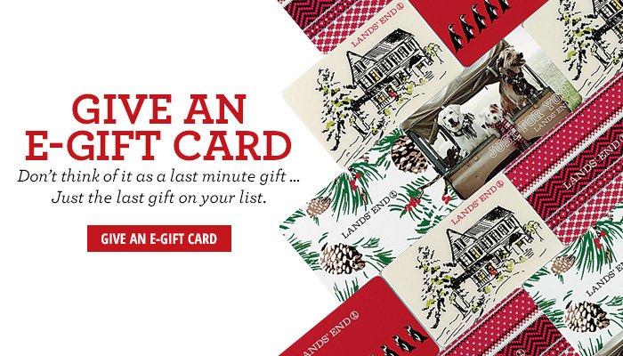 Give an E-Gift Card
