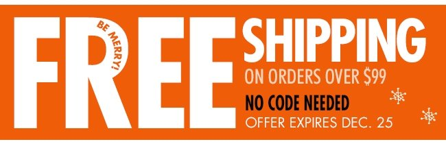 Free Shipping! No Code Needed