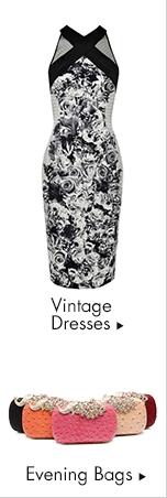 Vintage Dresses and Evening Bags
